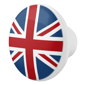 Classic Union Jack UK Flag Ceramic Knob