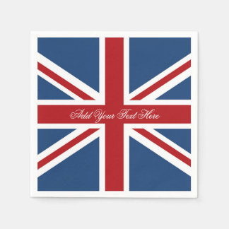 Classic Union Jack UK Flag Disposable Napkins
