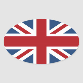 Classic Union Jack UK Flag Oval Sticker
