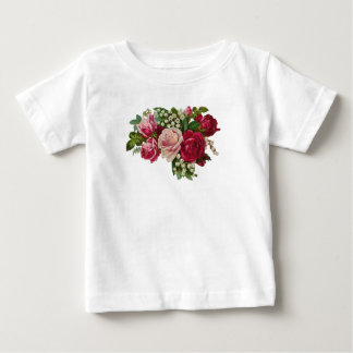 Classic Victorian Roses Lily of the Valley Romance Baby T-Shirt