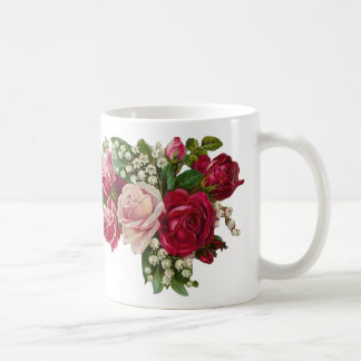 Classic Victorian Roses Lily of the Valley Romance Coffee Mug
