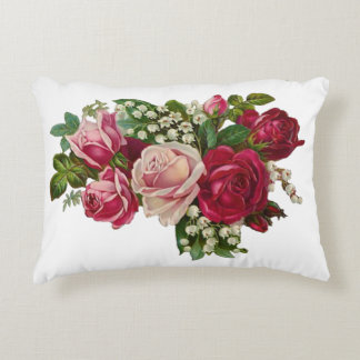 Classic Victorian Roses Lily of the Valley Romance Decorative Pillow