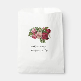 Classic Victorian Roses Lily of the Valley Romance Favour Bag