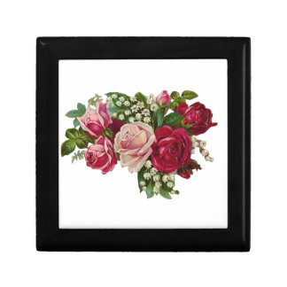 Classic Victorian Roses Lily of the Valley Romance Gift Box