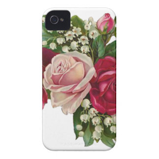 Classic Victorian Roses Lily of the Valley Romance iPhone 4 Case-Mate Case