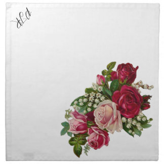 Classic Victorian Roses Lily of the Valley Romance Napkin