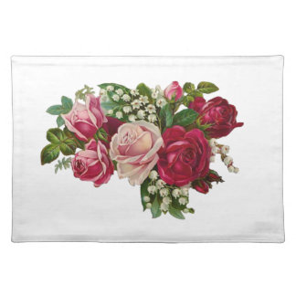 Classic Victorian Roses Lily of the Valley Romance Placemat