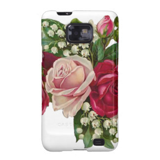Classic Victorian Roses Lily of the Valley Romance Samsung Galaxy SII Cover