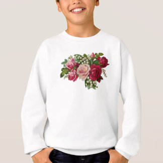 Classic Victorian Roses Lily of the Valley Romance Sweatshirt