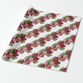 Classic Victorian Roses Lily of the Valley Romance Wrapping Paper