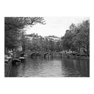 Classic view of Amsterdam Photo Print