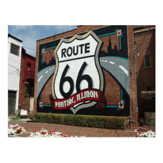 Classic views of the route 66 illinois postcard