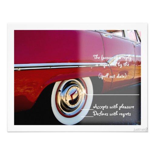 classic vii car rsvp personalized invitation