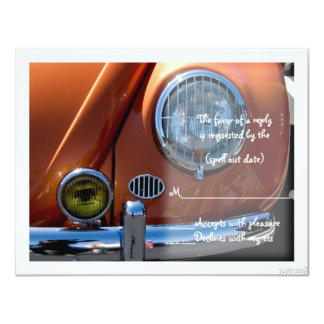 "classic viii car rsvp 4.25"" x 5.5"" invitation card"