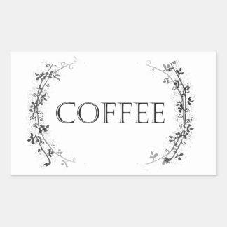 Classic Vine Design Coffee Jar Labels Stickers
