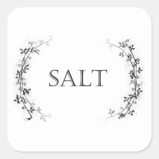Classic Vine Design Salt Container Labels Stickers