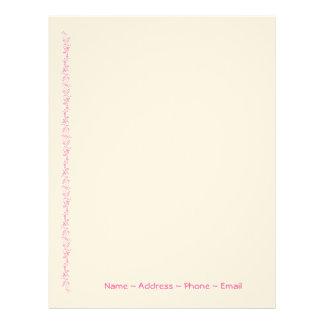 Classic Vines Pink Letterhead
