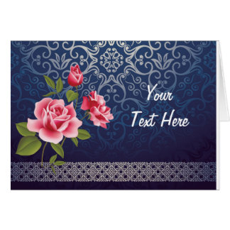 Classic vintage blue greeting card