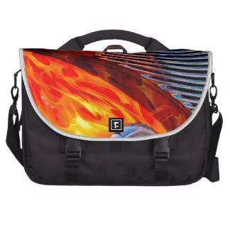 Classic Vintage Car Flame Paint Chrome Red Computer Bag
