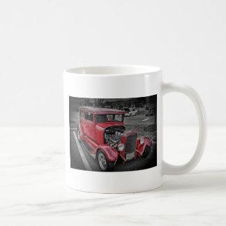Classic Vintage Custom Classic Red Hot Rod HDR Basic White Mug
