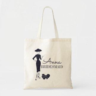 Classic Vintage Fashion Bridal Bridesmaid Tote Bag