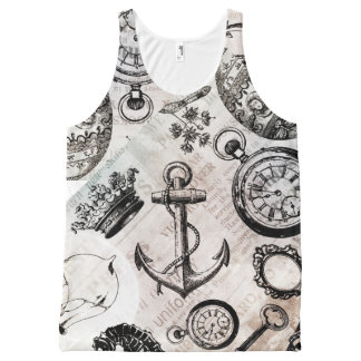 classic vintage fashion women's tank top vest
