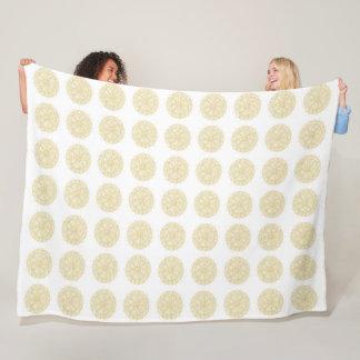 Classic Vintage golden Mandala in textured finish Fleece Blanket
