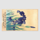 Classic vintage japanese ukiyo-e violet irises art sticker