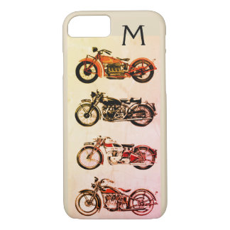 CLASSIC VINTAGE MOTORCYCLES MONOGRAM iPhone 7 CASE