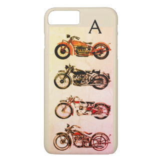 CLASSIC VINTAGE MOTORCYCLES MONOGRAM iPhone 8 PLUS/7 PLUS CASE