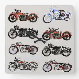 CLASSIC VINTAGE MOTORCYCLES WALL CLOCKS