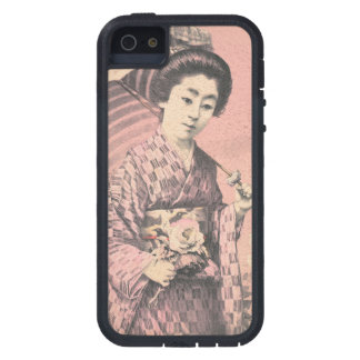 Classic vintage portrait of geisha japanese lady case for the iPhone 5