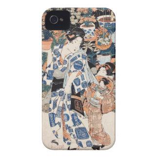 Classic vintage ukiyo-e geisha and child Utagawa iPhone 4 Case-Mate Case