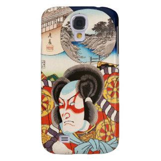 Classic vintage ukiyo-e kabuki samurai Utagawa art