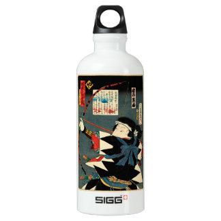 Classic Vintage Ukiyo-e Kyudo Archer Utagawa Art Water Bottle