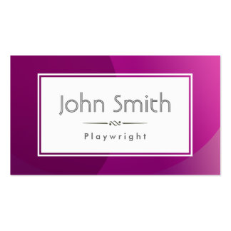 Classic Violet Background Playwright Business Card