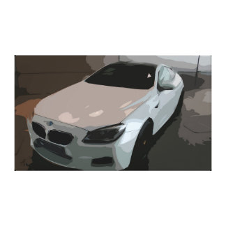 Classic White Car Simple Design HighQuality Canvas