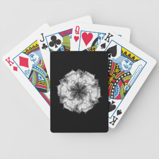 Classic White Flower Playing Cards