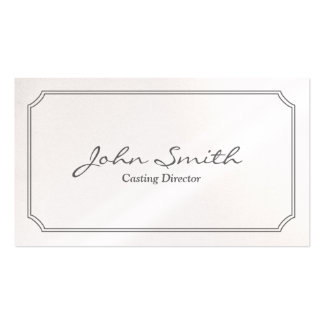 Classic White Frame Casting Director Business Card