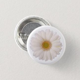 Classic White Gerbera Daisy Flower 1 Inch Round Button