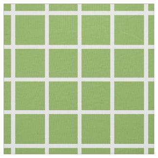 Classic White Lattice on Leaf Green Fabric