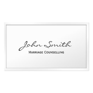 Classic White Marriage Counselling Business Card