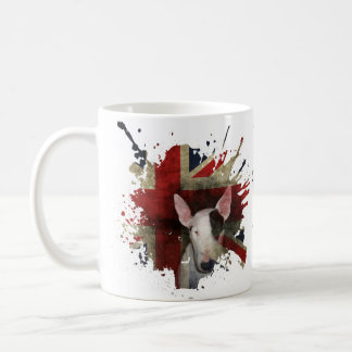 Classic White mug English Bull Terrier Union Jack