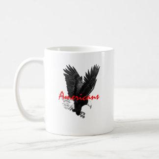 Classic White Mug with American Eagle Drawing Basic White Mug