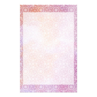 Classic White Paisley colorful backgournd Stationery Design