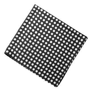 Classic White Polka Dot Customizable Bandana