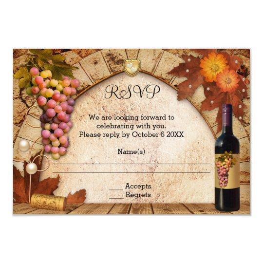 Classic Wine Theme or Vineyard RSVP Invitation