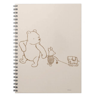 Classic Winnie the Pooh and Piglet 2 Notebooks
