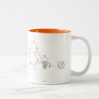Classic Winnie the Pooh and Piglet 2 Two-Tone Mug