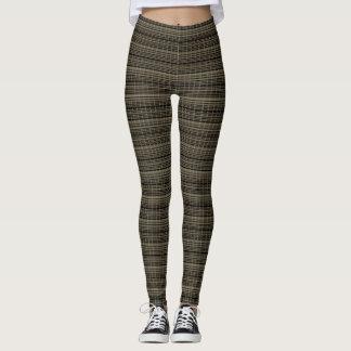 Classic-Winter-Plaid's_Bark*-Taupe-LEGGING'S_XS-XL Leggings
